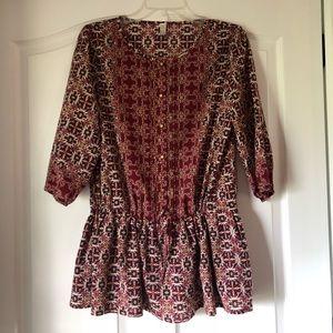 Boutique patterned top (M)